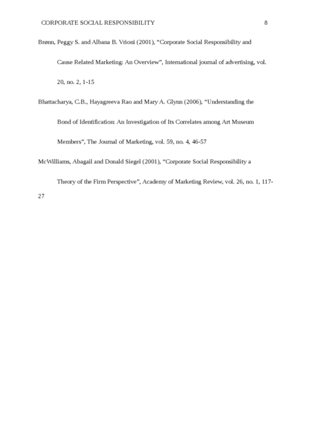 A research proposal on the Corporate Social Responsibility - Page 8