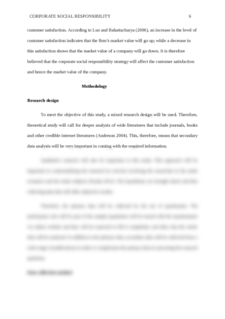 A research proposal on the Corporate Social Responsibility - Page 6