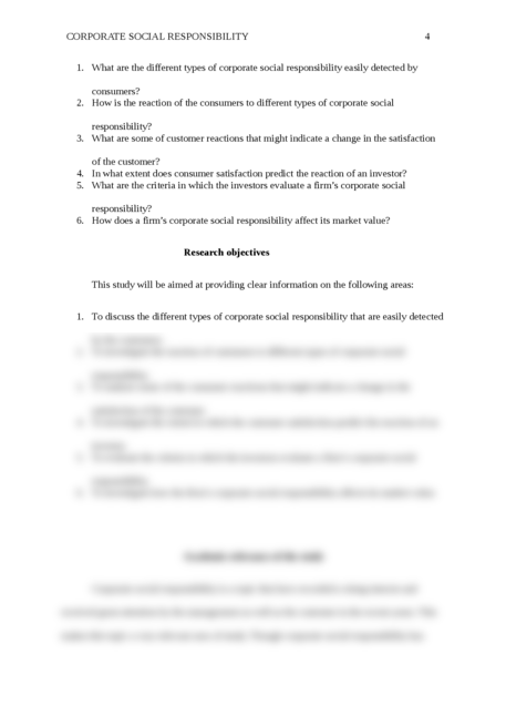 A research proposal on the Corporate Social Responsibility - Page 4
