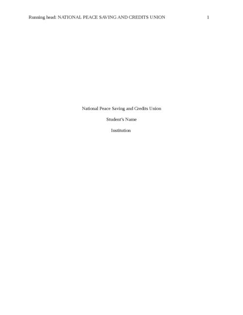 National Peace Saving and Credits Union                                   - Page 1