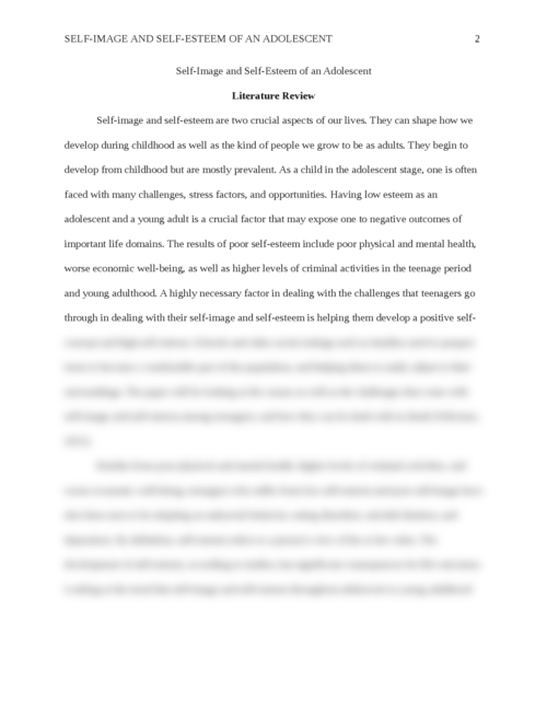 self-image and self-esteem of an adolescent - Page 2