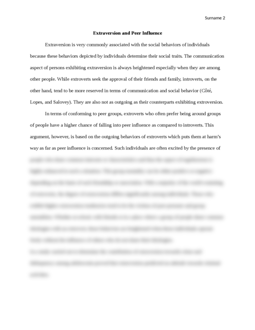 Effect of peers on the social development of adolescents - Page 2
