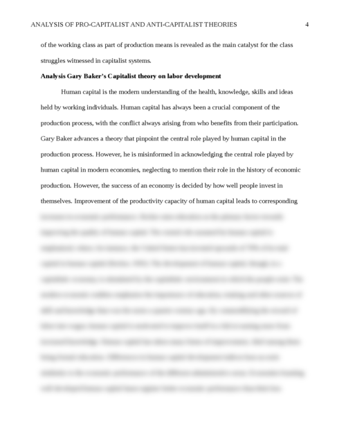 Analysis of Pro-Capitalist and Anti-Capitalist Theories - Page 4