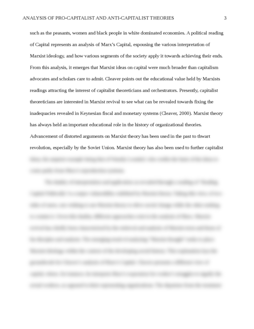 Analysis of Pro-Capitalist and Anti-Capitalist Theories - Page 3