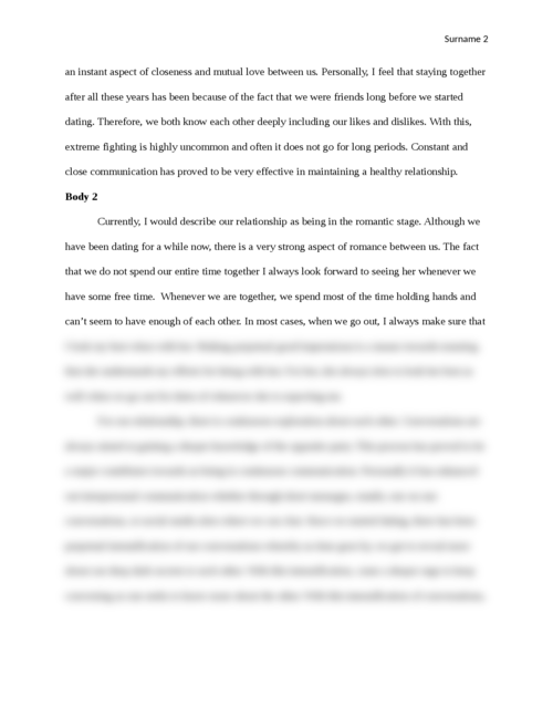 Communications and Interpersonal Relationships - Page 2