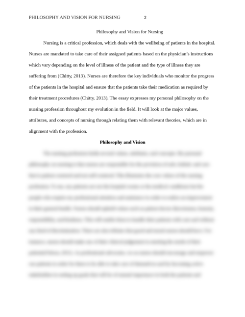 Philosophy and Vision for Nursing - Page 2