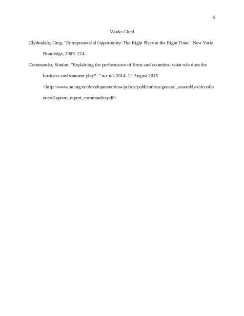 Summarizing Course on Entreprenuerial Opportunity - Page 6