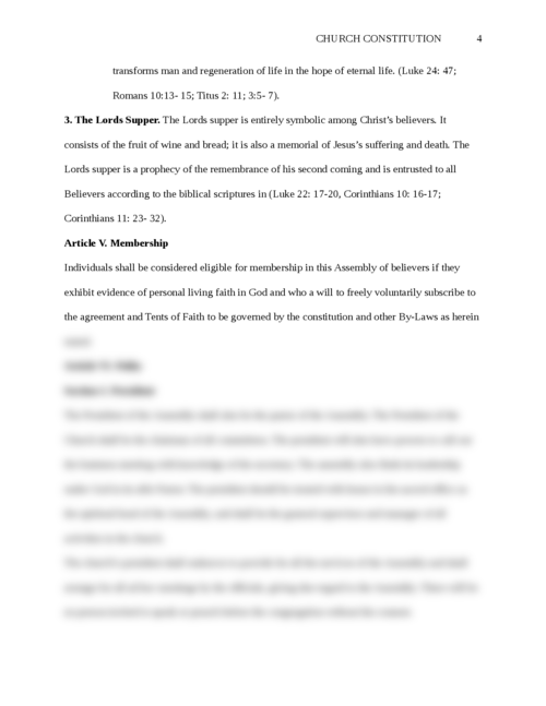 Church Constitution - Page 4
