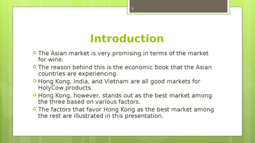 A market feasibility study of South China, India and Vietnamm - Page 3