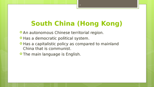 A market feasibility study of South China, India and Vietnamm - Page 7