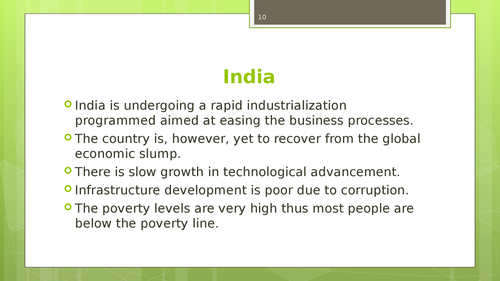 A market feasibility study of South China, India and Vietnamm - Page 10