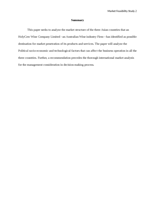 A Market Feasibility Study of South China, India and Vietnam - Page 2
