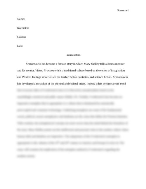 Frankenstein - Page 1