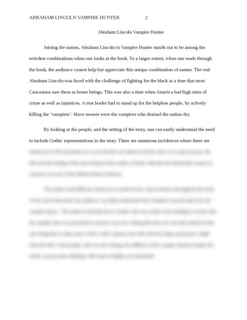 Abraham Lincoln Vampire Hunter  - Page 2