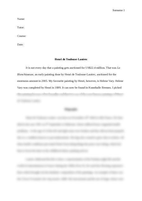 Henri de Toulouse-Lautrec - Page 1