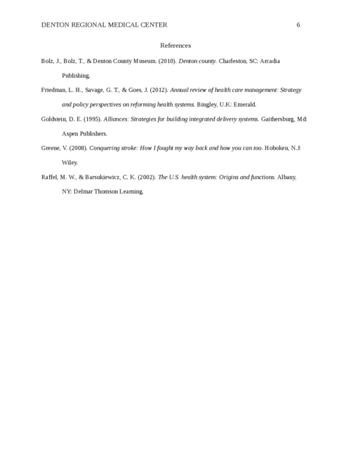 Denton Regional Medical Center - Page 6