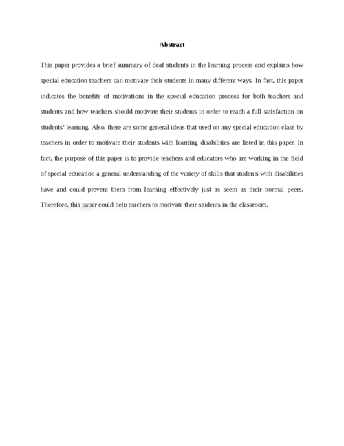 Motivation in Special Education Students - Page 3