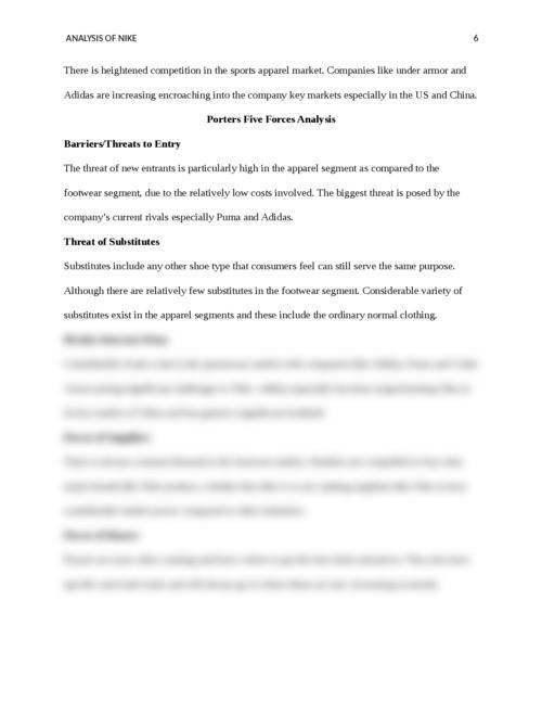 NIKE Organizational Analysis - Page 6