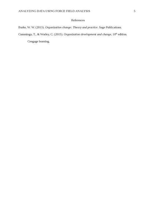 Analyzing Data Using Force Field Analysis - Page 5