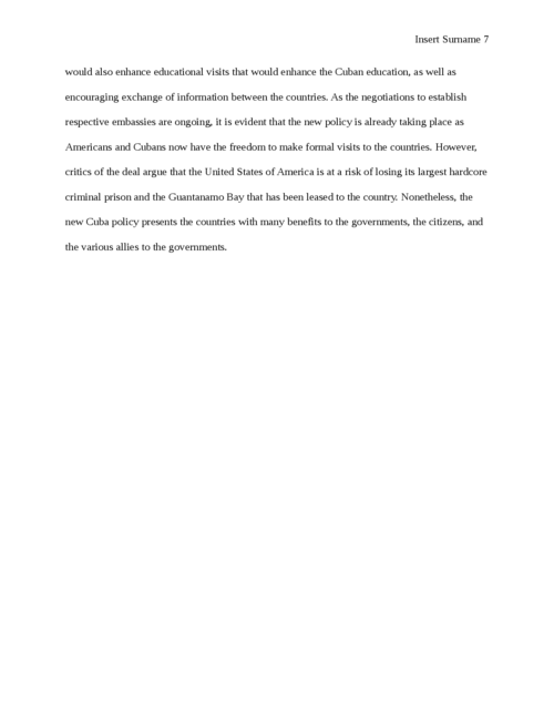 The US-Cuba International Relations - Page 7