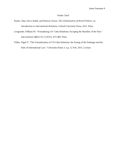 The US-Cuba International Relations - Page 8