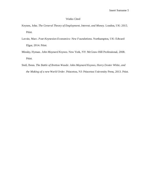 John Maynard Keynes and Keynesian Economics - Page 5