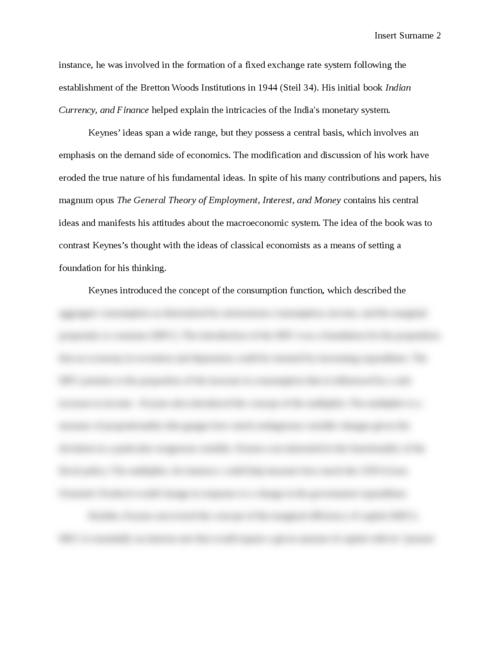 John Maynard Keynes and Keynesian Economics - Page 2
