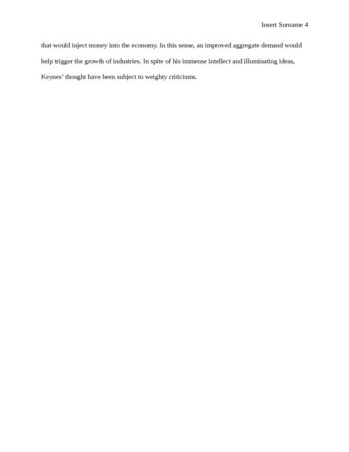 John Maynard Keynes and Keynesian Economics - Page 4