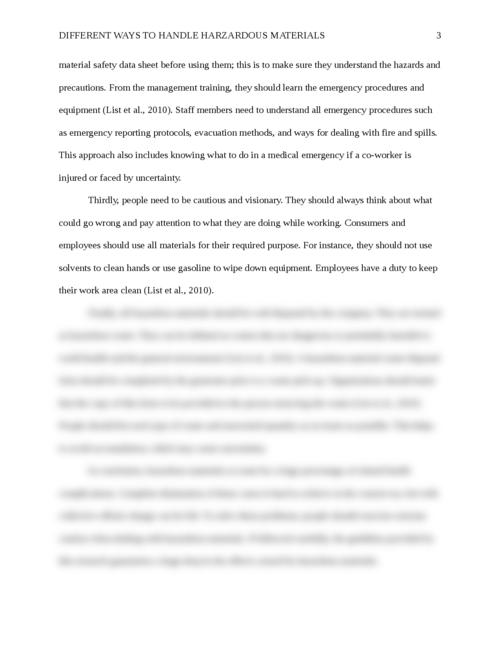 Different Ways to Handle Hazardous Materials  - Page 3