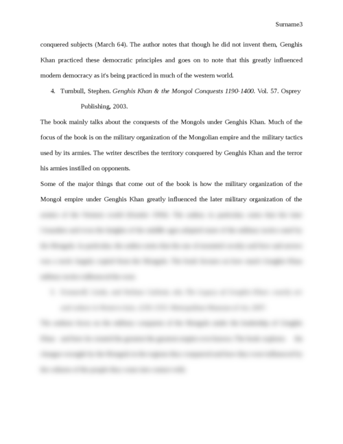Genghis Khan and his Legacy to the Western World: An Annotated Bibliography - Page 3