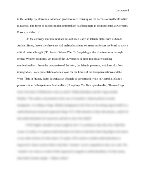 Essay On Islam and Multiculturalism - Page 4