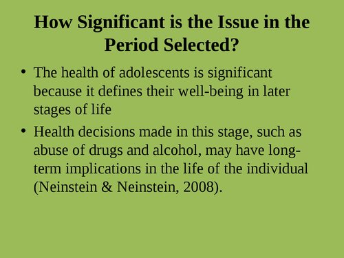 """A presentation on """"Issues adolescent health"""" - Page 4"""
