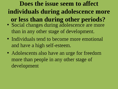 """A presentation on """"Issues adolescent health"""" - Page 6"""