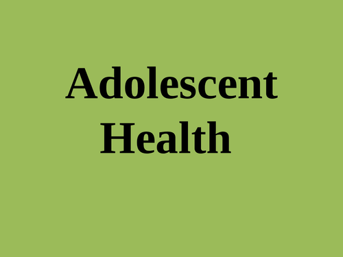 """A presentation on """"Issues adolescent health"""" - Page 1"""