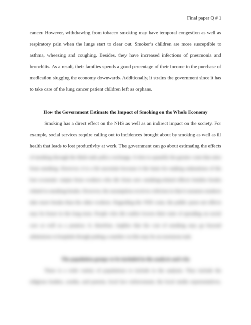 Smoking and Its Effects on the Economy - Page 3