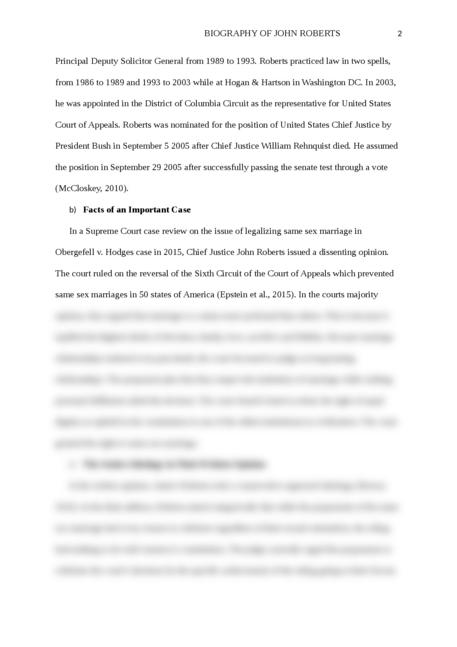 Biography of John Roberts - Page 2