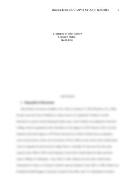 Biography of John Roberts - Page 1