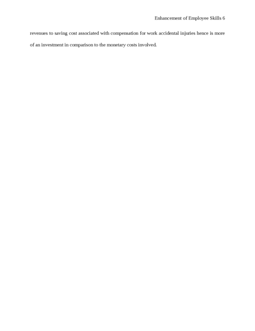 Essay on enhancement of Employee Skills - Page 6