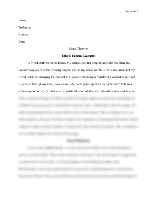 Moral Theories - Page 1