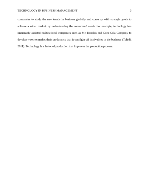 Technology in Business Management - Page 3