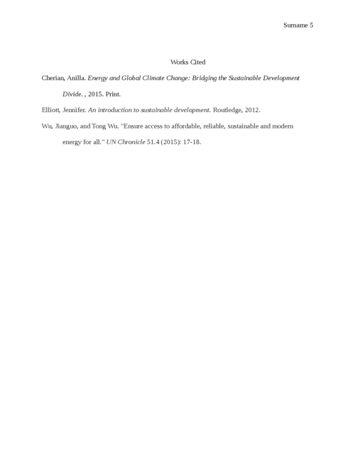 policy memo on achieving Sustainable Development Goal - Page 5