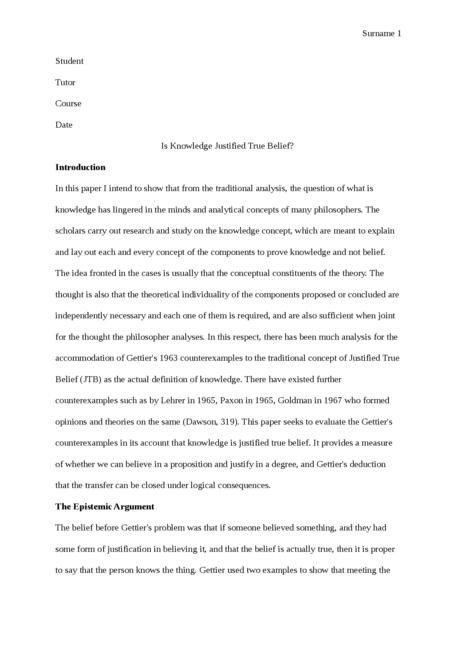 Intimacy essay