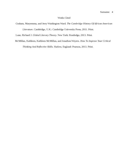 Genre Analysis Worksheet—Literary Analysis - Page 4