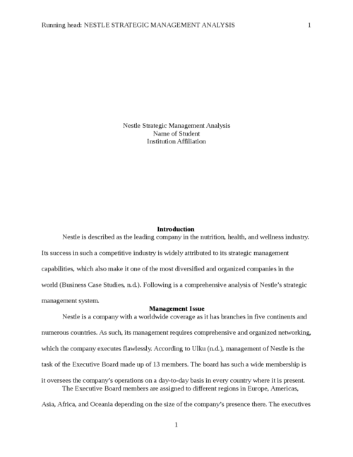 Argumentative Essay Topics For High School  Writing A High School Essay also High School Essays Nestle Strategic Management Analysis  Papers Marketplace Health And Fitness Essay
