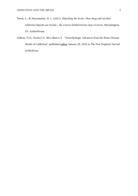 """Short Review paper on article """"Addiction and the brain"""" - Page 5"""