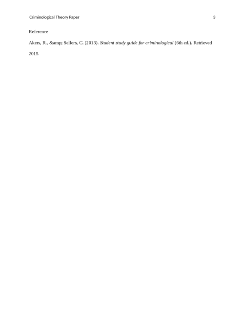 Criminological Theory Paper - Page 3