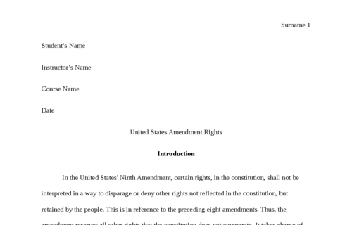 United States Amendment Rights
