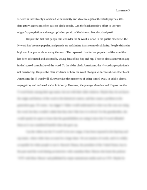 A Straight Talk about the 'N-Word' - Page 3