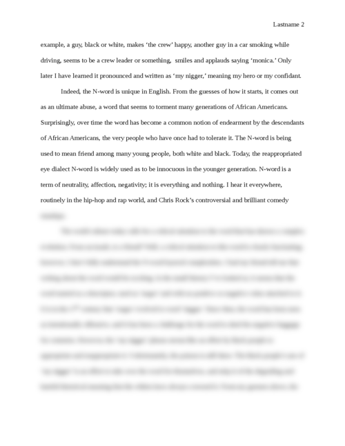 A Straight Talk about the 'N-Word' - Page 2