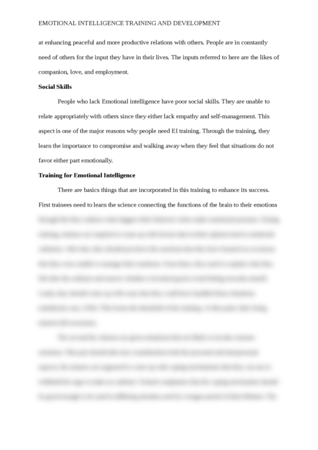 Emotional Intelligence Training and Development - Page 5